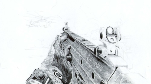 WIP ACR 6.8 from MW3 Tool: Black ballpoint pen