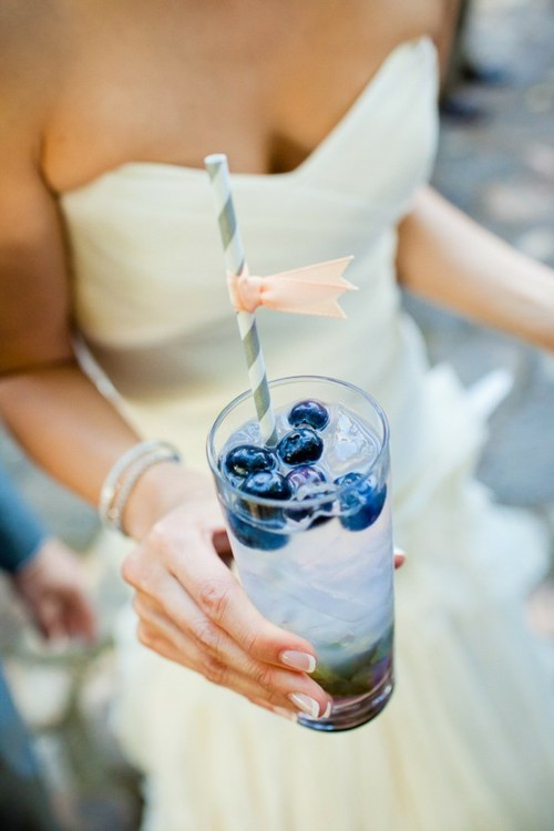 Blueberry cocktails.