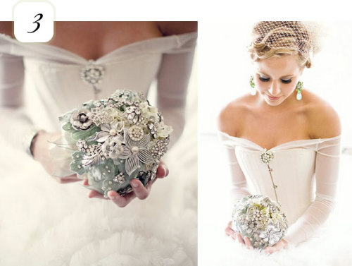 Y'all know I love the brooch bouquets.
