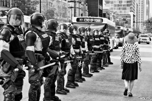 A fantastic shot by James Watkins from today's NATO protests in Chicago. See more here.