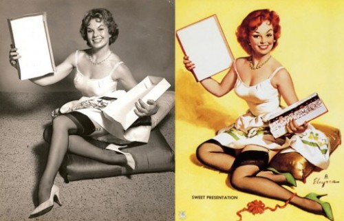 Pin-up girls in real life.