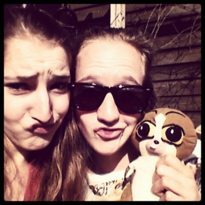 Classical duckface (: With sweet & crazy Maartje (Taken with instagram)