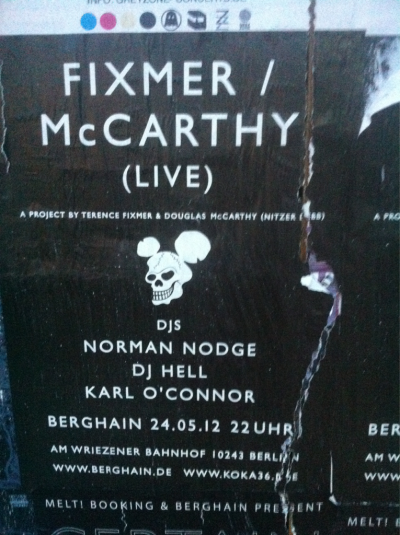 This thursday, don t miss it , Fixmermcarthy live , with Hell, Karl o connor (Regis) and Norman Nodge. Special night.