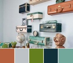 vintage suitcases upcycled into wall shelves. What do you think? Does it work?
