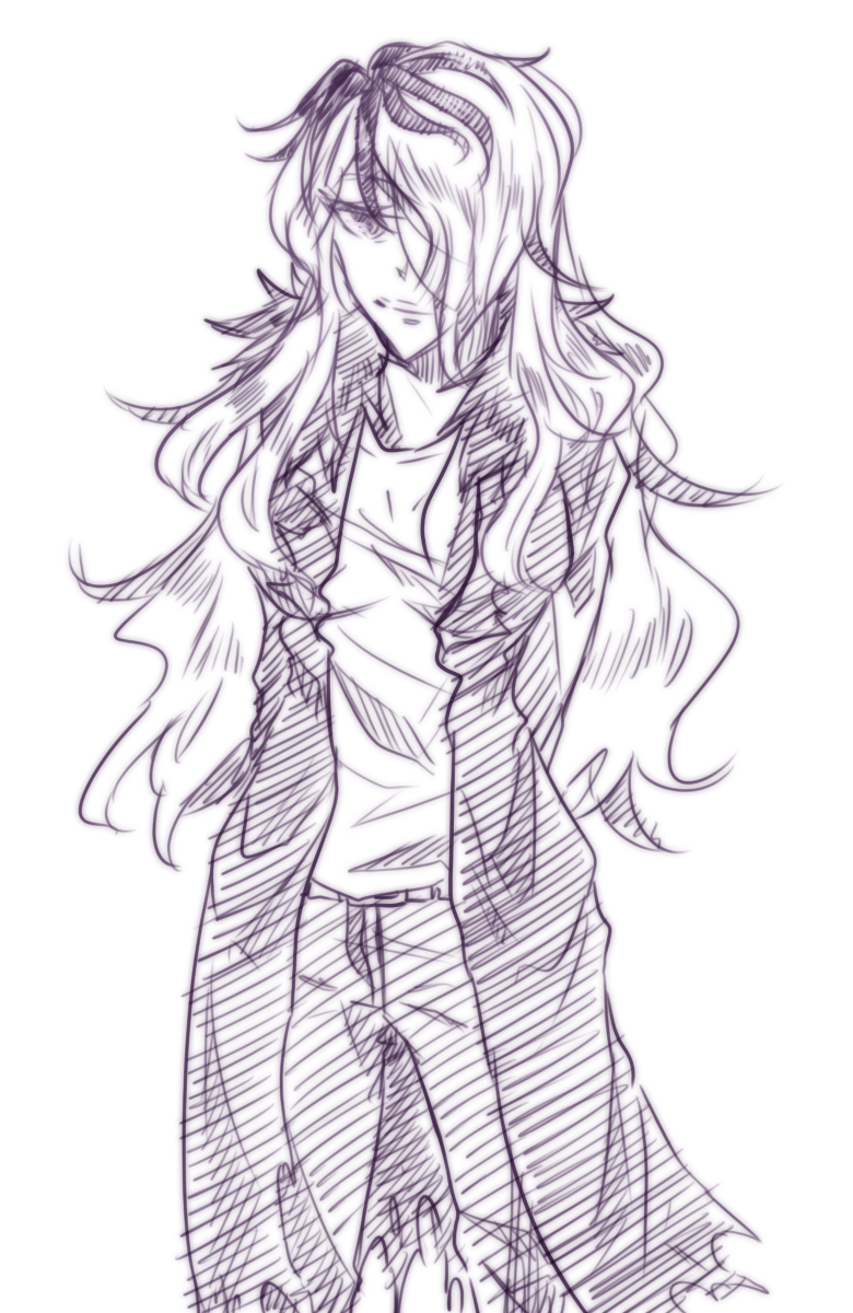 omega-ne:  I think fem!Garry makes a good mysterious-looking lady… <3  Finish heeeeeeeer sjkjhddjnhff