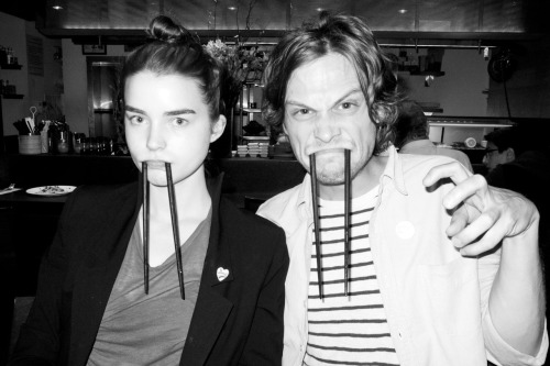 terrysdiary:  Dinner at Souen with Ali Michael and Matthew Gray Gubler