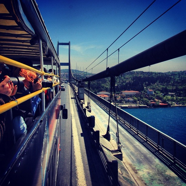#Photo #Shooting from the #bus on #Phosphors #Bridge , #Istanbul #Turkey   (Taken with instagram)