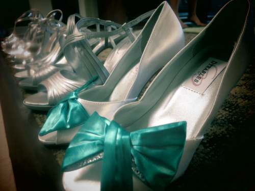 Shoes of the bridal party. 05.19.2012