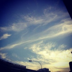 #sunset #Singapore  #sky #cloud  #evening (Taken with instagram)