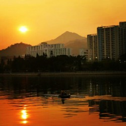 Didn't edit and the #sky was really #orange #HongKong #shatin #river #sports #sunset #cloud (Taken with instagram)