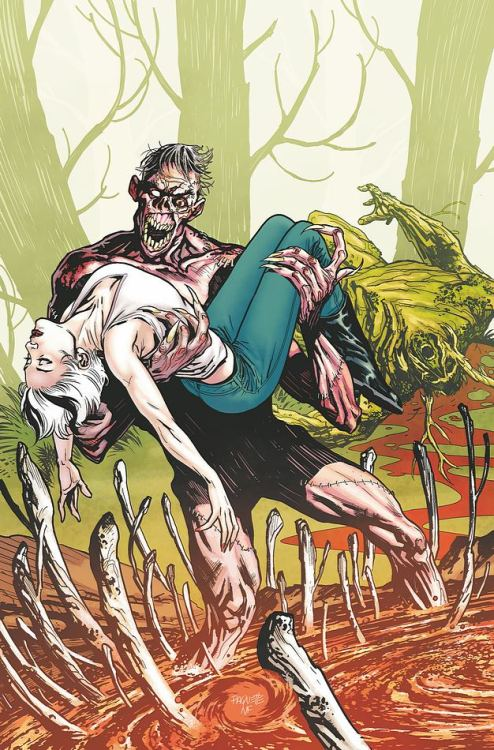 Swamp Thing and Abigail Arcane lose to Anton Arcane on the cover to Swamp Thing #11 from DC.