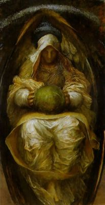 i12bent:  George Frederic Watts: The Recording Angel, c. 1890 - oil on canvas (private collection)