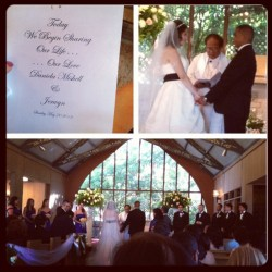 Yesterday's beautiful wedding! Congrats to my bro's best bud Jerwyn and Mishell!  (Taken with instagram)