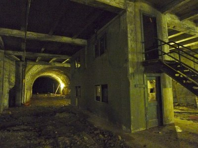 (via BLDGBLOG: Under Angeles) L.A.'s original subway, now walled-off beneath downtown; photo by Alissa Walker