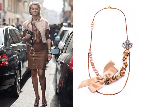 THIS OUTFIT REMINDS US OF Our Pearl Ribbon Necklace