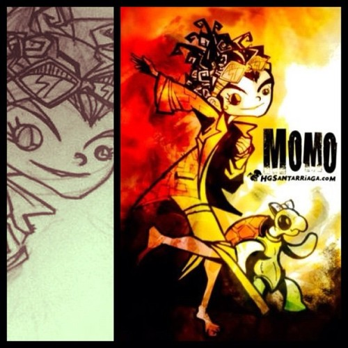 Momo y Casiopea #sketch #dibujo #draw #drawing #illustration #illustrator #ilustración #hgsantarriaga  #art #artwork #artprocess #wip #process #pencils #boceto #trazo #doodle #myArt #momo #michaelEnde #characterdesign