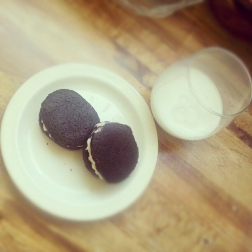 Made oreos yesterday.  (Taken with instagram)