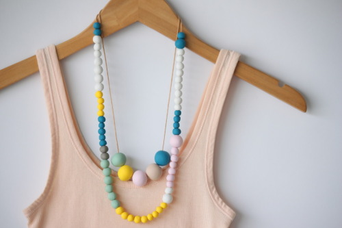 DIY polymer clay bead necklace from Delighted Momma.