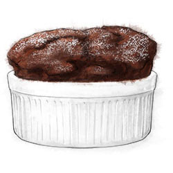 What better expression of love than a piping hot chocolate souffle?