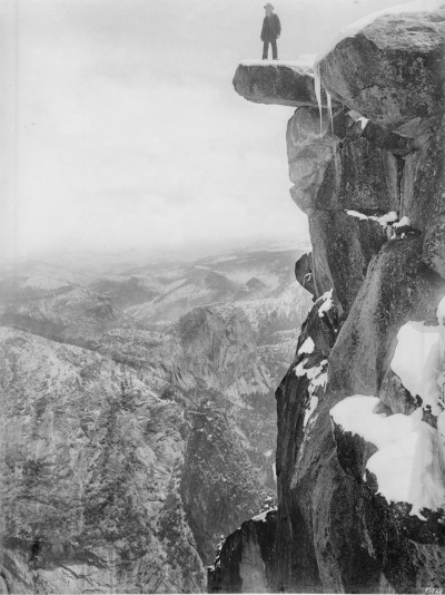 George Fiske, Galen Clark on Glacier Point in Yosemite National Park, ca.1900