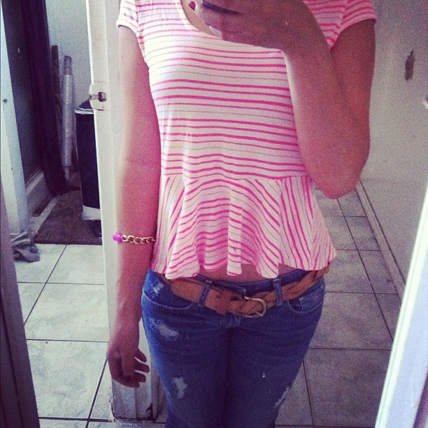 Dressed like a little girl today! #pink #freeshirt (Taken with instagram)