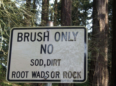 Sign spotted on Mt. Tabor. 'Root Wads or Rock' would be an excellent Mojo Nixon comeback album.