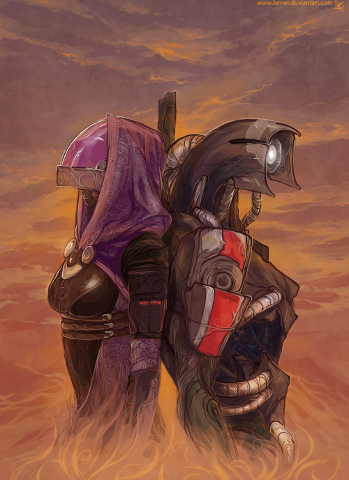 "palavenwardens:  ""Tali'Zorah, does this unit have a soul?"" By Lornet"