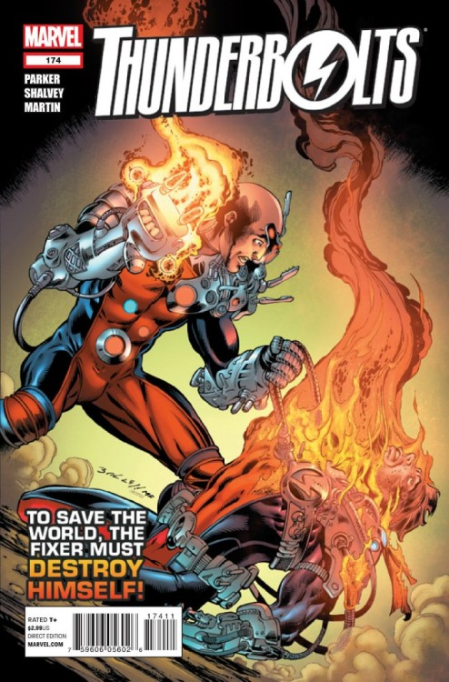 Thunderbolts #174, July 2012, written by Jeff Parker, penciled by Declan Shalvey