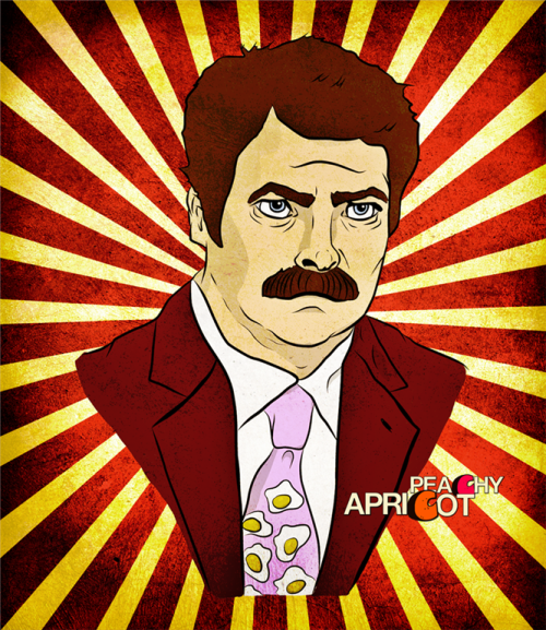 peachyapricot:  The latest in Ron Swanson's tie collection!
