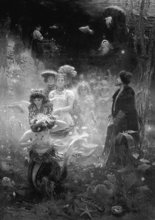 obsolence:  Ilya Repin - Sadko in the Underwater Kingdom, 1876 (State Russian Museum)