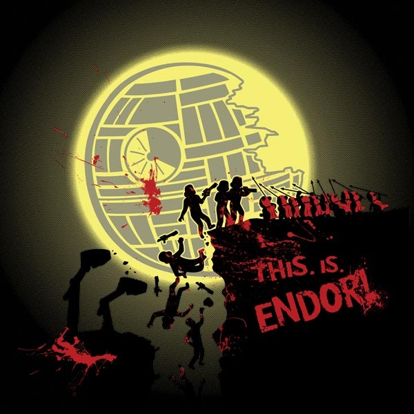 kenoliverdesign:  This. is. Endor!!! Click to buy on redbubble!