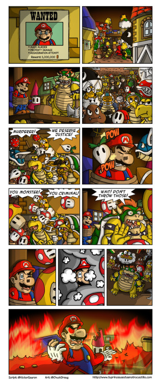 Mario Finally Answers For His Crimes