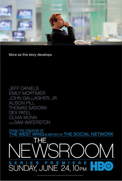 popculturebrain:  Poster: The Newsroom   Omg