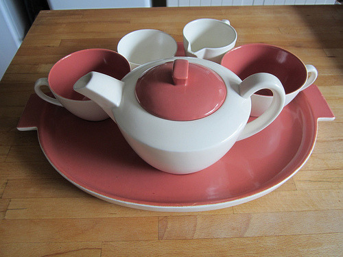 Tea Set. (by the mid-century shed)