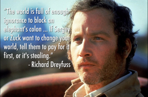 modernprimate:  In case you missed it, Richard Dreyfuss had some choice words about Facebook when he took the stage at tonight's Webby Awards.