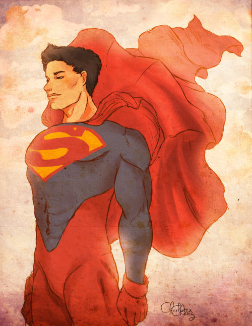 Superboy as Superman by ~none-of-the-sort