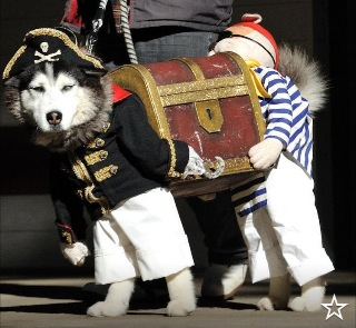 If you've seen a better picture of two pirates carrying a trunk, I don't believe you.