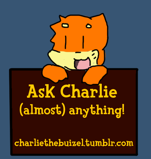 I made an ask blog for my Pokemon Crossing character, Charlie. Feel to ask him any questions you want (just nothing NSFW please!)! Click here or on the picture link thingy to go there!