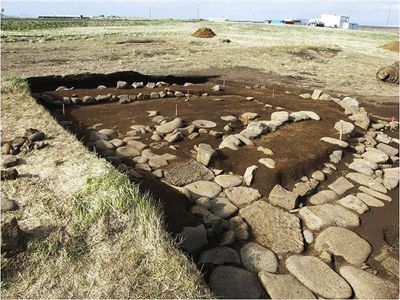 The first archaeological dig of the year in Iceland began today. At Hafnir in Reykjanes, southwest Iceland, archaeologist have returned to the site of a hut that may date to 770-880 CE. If accurate, this would date before the first known Viking settlement in 874 CE. Excavations at this site, given the name Vogur, have been intermittent since 2003. The proposed date of the site was revealed last summer after carbon dating. No other structures have been found in the area.