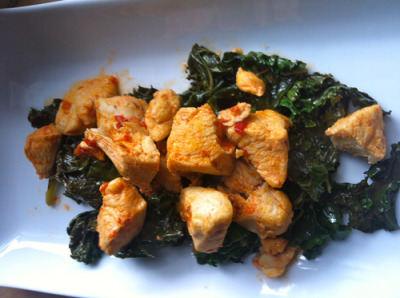 Spicy Chicken with Kale