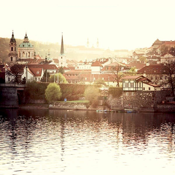 | ♕ |  Prague Spring - Vltava river bank  | by ©.natasha. | via ysvoice