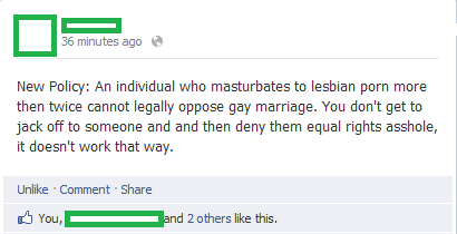 beinggayisokay:  The best status possibly ever