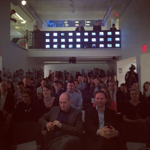 Full house at the CenterforArchitecture! We had a great talk with @BjarkeIngels, Ned Cramer and @MorpholioApp #architecture #archdaily #architects #newyork  (Taken with instagram)