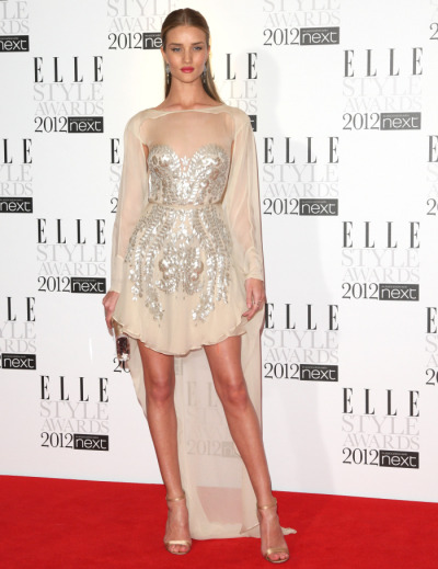 Rosie Huntington-Whitely wearing Antonio Berardi at the Elle Style Awards, February 2012.