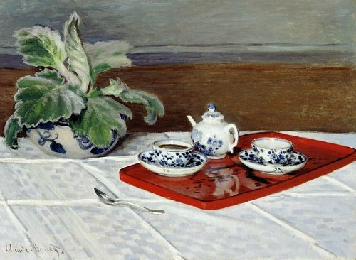 smatterings:stilllifequickheart: Claude Monet, The Tea Service 1872