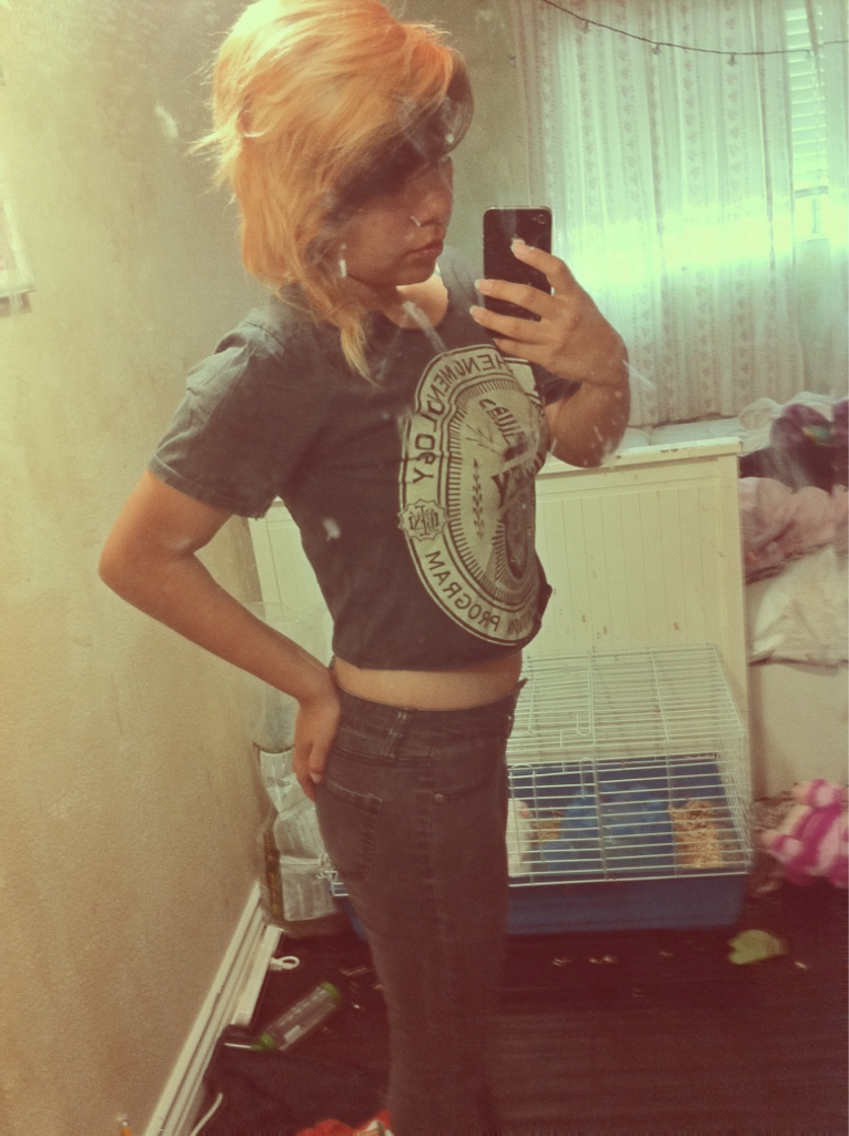 I needa lose a liddo weight but I like this shirt . c: