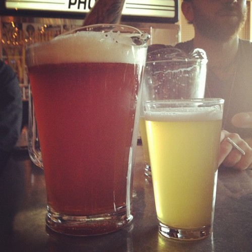 Trying out the micro beers in Portland (Taken with instagram)