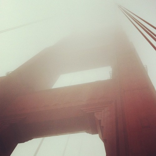 Dense fog… (Taken with Instagram at Golden Gate Bridge)