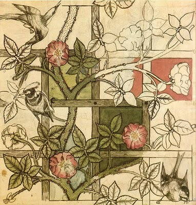 William Morris design for Trellis wallpaper, 1862