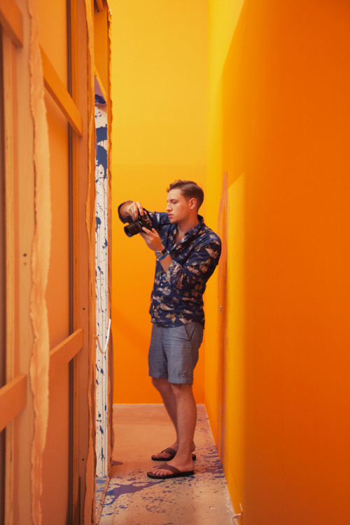evantetreault:  laurenlemon:  Evan inside the Rubell Family Collection Gallery. Miami, FL ©Lauren Randolph  Miss Miami already.